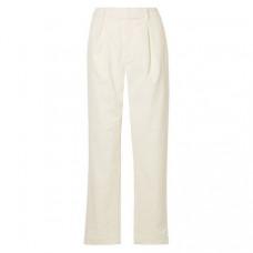 ganni ridgewood cotton blend courduroy straight leg pants
