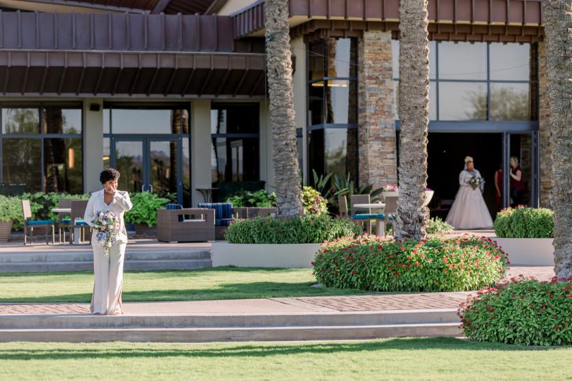 inside glamorous wedding in arizona desert