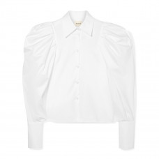 khaite brianne oversized cotton poplin shirt