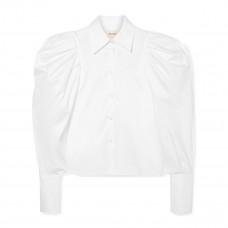 khaite brianne oversized cotton poplin shirt