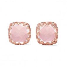 larkspur and hawk jane small 18 karat rose gold dipped quartz earrings