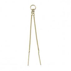 monocraft no 7 chain earring
