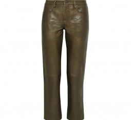 Cropped Leather Straight-Leg Pants by Muubaa