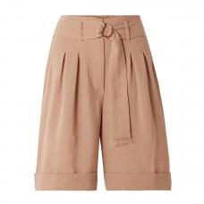 nanushka colorado belted woven shorts