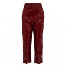 nicholas belted crinked vinyl straight leg pants