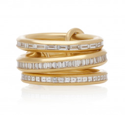 Manava Set of Three 18K Gold Diamond Rings by Spinelli Kilcollin