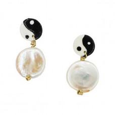 susan alexandra pearly yin yang earring