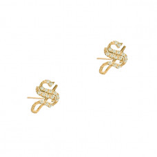 the m jewelers the gothic diamond initial stud earrings