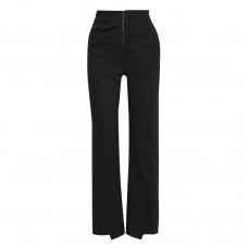 the range lace up stretch cotton twill straight leg pants
