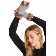 carolyn rowan x stephanie gotlieb fingerless gloves with rainbow paillettes