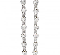 Odette Oxidized Silver-Plated Crystal Earrings by Dannijo