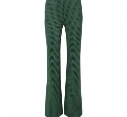 Caspian Stretch-Jacquard Flared Pants by Diane von Furstenberg