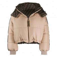 fendi logo reversible puffer jacket