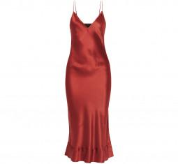 Stella Silk-Satin Midi Dress by Lee Mathews