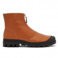 loewe zip front leather ankle boots