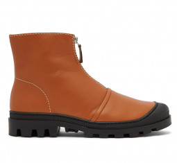 Zip-Front Leather Ankle Boots by Loewe