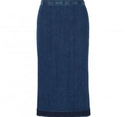 Frayed Denim Midi Skirt by McQ Alexander McQueen