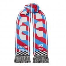 miu miu fringed intarsia wool scarf