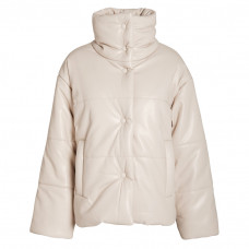 nanushka vegan leather hide puffer jacket