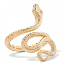 ole lynggaarn copenhagen snake medium 18 karat gold diamond ring