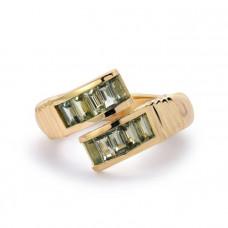retrouv green sapphire baquette wrap ring