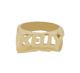 Bolt Nameplate Ring by Shami Official