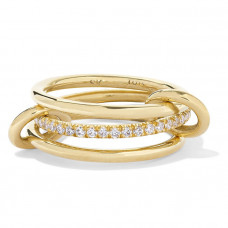 spinelli kilcollin sonny set of three 18 karat gold diamond rings