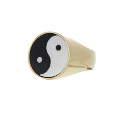 tarin thomas yin yang everett ring white mother of pearl black onyx
