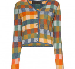 Gee's Plaid Cashmere Cardigan by The Elder Statesman