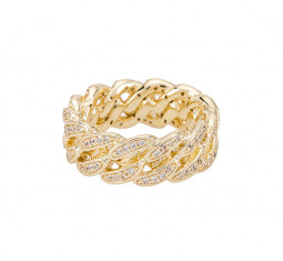 Iced Cuban Link II Ring by The M Jewelers