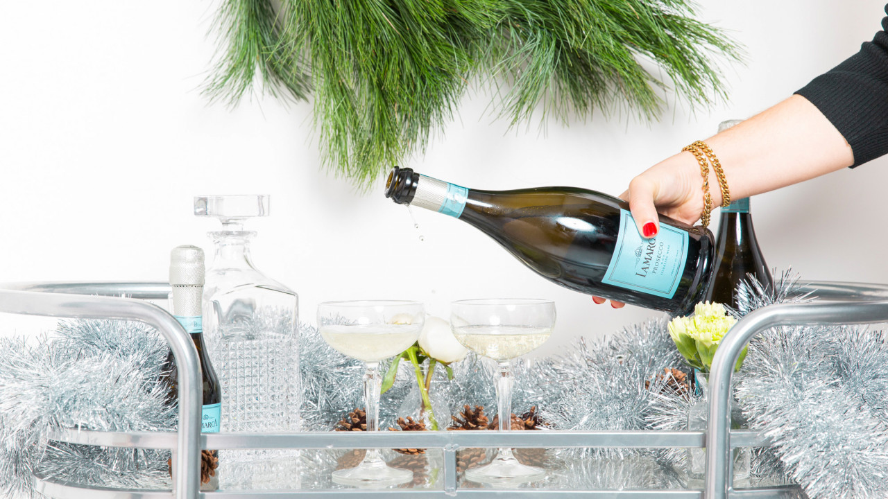 How to Dress Up Your Bar Cart & Cocktails This Holiday
