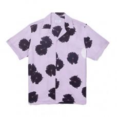 saturdays nyc canty moon flower short sleeve shirt faded plum