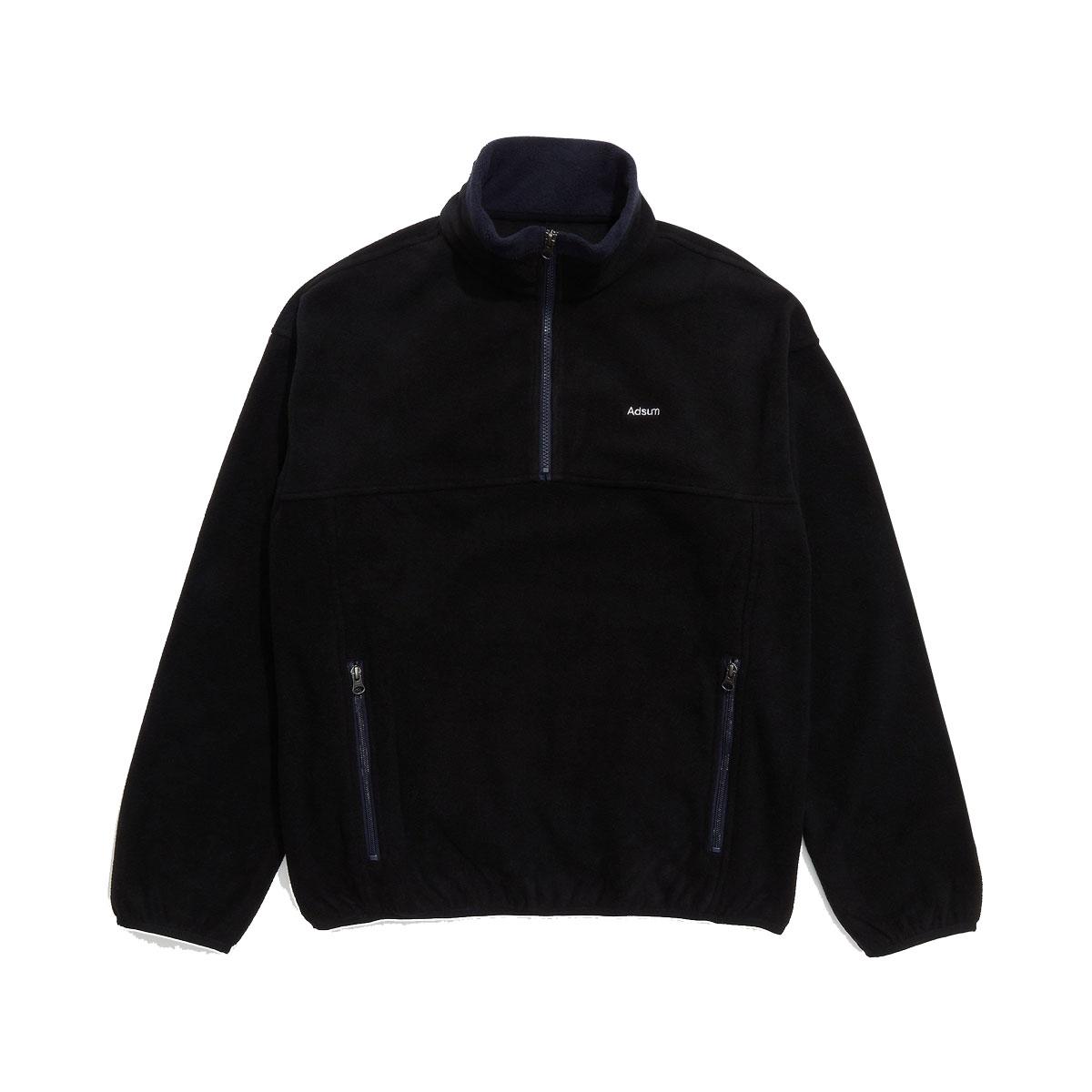 adsum nyc tw fleece popover jacket black