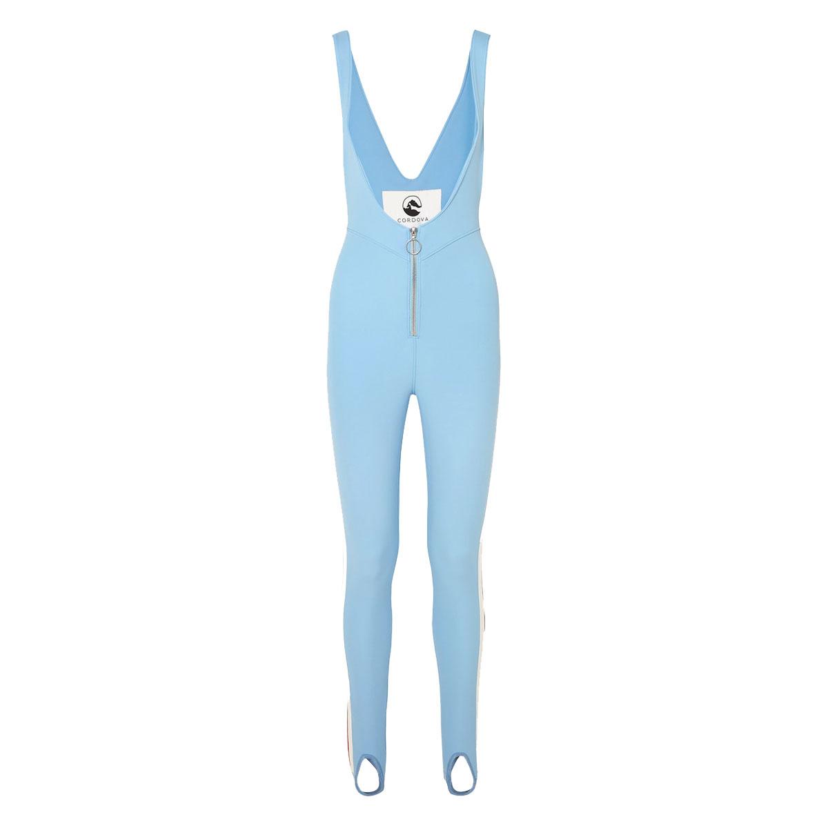 cordova the vail striped stirrup stretch ski suit
