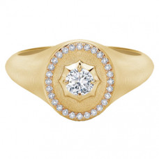 forevermark alchemy collection by jade trau signet ring