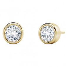 forevermark tribute collection bezel stud earrings