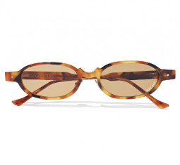 Oval-Frame Tortoiseshell Acetate Sunglasses by Grey Ant