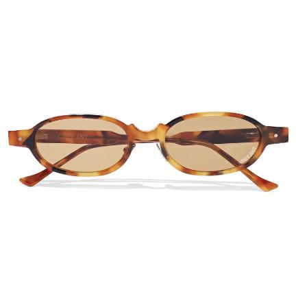 grey ant oval frame tortoiseshell acetate sunglasses