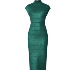 Disco Knit Minimal Dress by Herve Leger