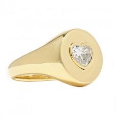 jemma wynne 18 karat gold diamond signet ring