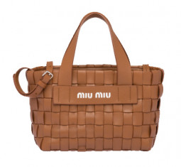 Nappa Leather Handbag by Miu Miu