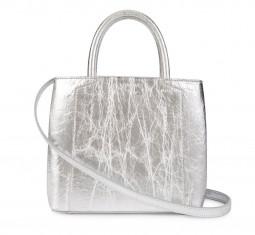 Nina Mini Handbag in Silver Piñatex by Luxtra