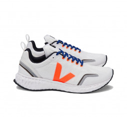 Condor Mesh White Orange Fluo Sneakers by Veja