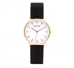 Black and Gold Piñatex Watch by Votch