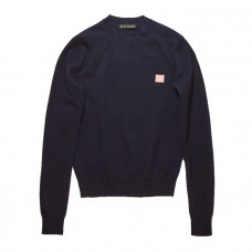 acne studios crewneck sweater navy pink