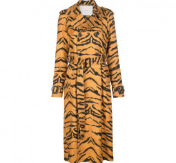 Tiger-Print Trench Coat by Adam Lippes