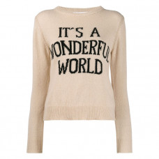 alberta ferretti its a wonderful world jumper