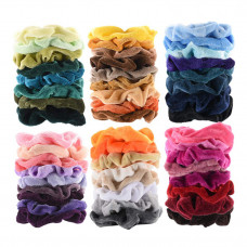 60pcs premium velvet hair scrunchies hair bands for women or girls hair accessories with gift bag