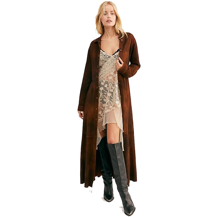 free people brenda knight long safari trench coat