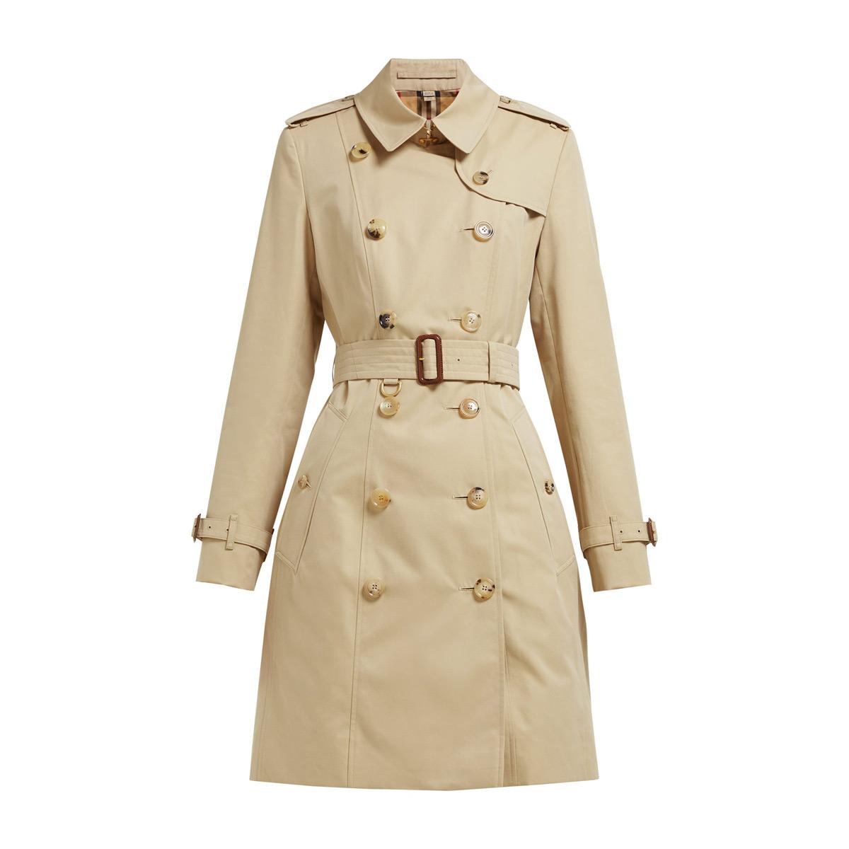 burberry chelsea heritage cotton gabardine trench coat